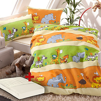 Zoom: Erwin Müller 3-pc duvet cover set, animals