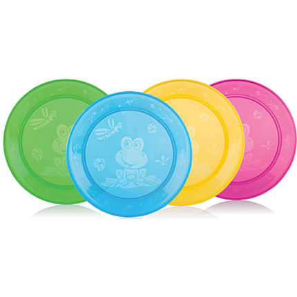 Zoom: Pack of 4 Nuby plates