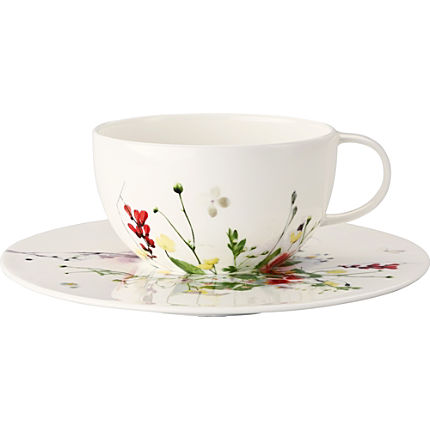 Zoom: Rosenthal 2-teiliges Cappuccino-Set Selection Brillance Fleurs Sauvages