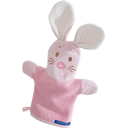 Zoom: Morgenstern Walk-Frottier Waschhandschuh 2-in-1 Hase
