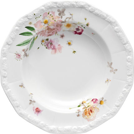 Zoom: Rosenthal Selection Maria Pink Rose Suppenteller