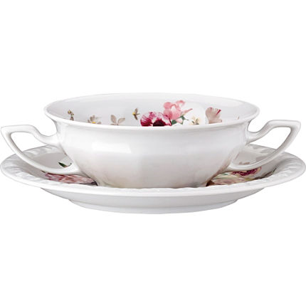 Zoom: Rosenthal Selection Maria Pink Rose Suppen-Set 2-teilig