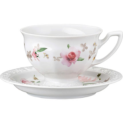 Zoom: Rosenthal Selection Maria Pink Rose Kaffee-Set 2-teilig