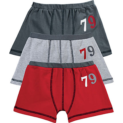 Zoom: Kinderbutt Shorts im 3er-Pack