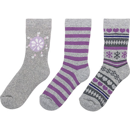 Zoom: Kinderbutt Socken Winter im 3er-Pack