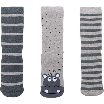 Zoom: Kinderbutt Socken Hippo im 3er-Pack