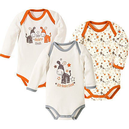Zoom: Baby Butt Body langarm im 3er-Pack