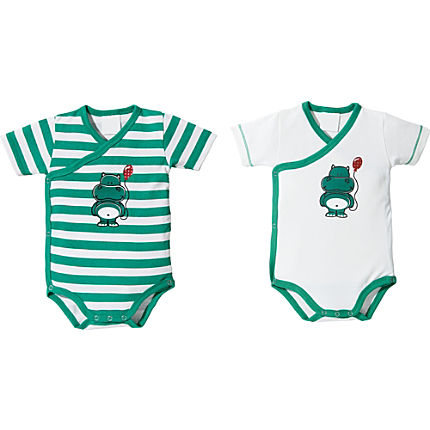 Zoom: Baby Butt Interlock-Jersey Wickelbody Kurzarm im 2er-Pack