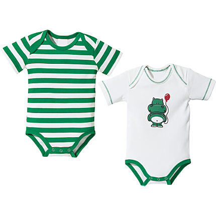 Zoom: Baby Butt Interlock-Jersey Body Kurzarm im 2er-Pack