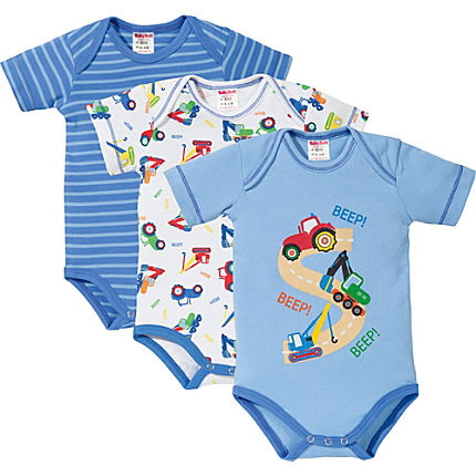 Zoom: Baby Butt Interlock-Jersey Body Kurzarm im 3er-Pack