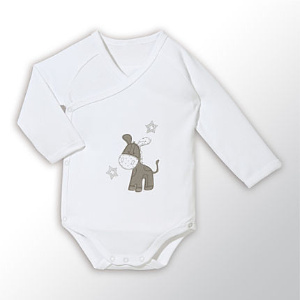 Zoom: Baby Butt Interlock-Jersey Wickelbody langarm