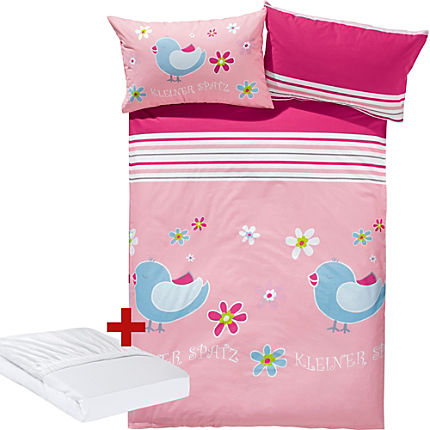 Zoom: Erwin Müller girl´s 3-pc duvet cover set, bird