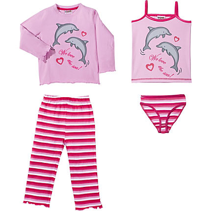 Zoom: Kinderbutt Single-Jersey 4-teiliges Set