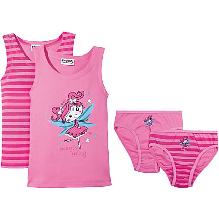 Zoom: Kinderbutt Interlock-Jersey 4-teiliges Unterwäsche-Set