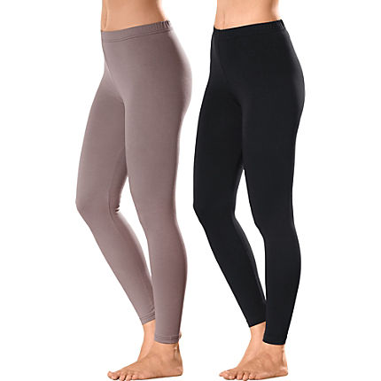 Zoom: Erwin Müller Damen-Leggings, lang im 2er-Pack