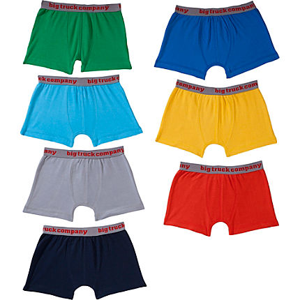 Zoom: Kinderbutt Shorts im 7er-Pack