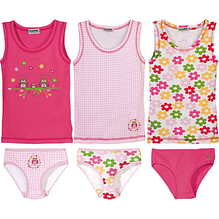 Zoom: Kinderbutt Single-Jersey Unterwäsche-Set 6-tlg.
