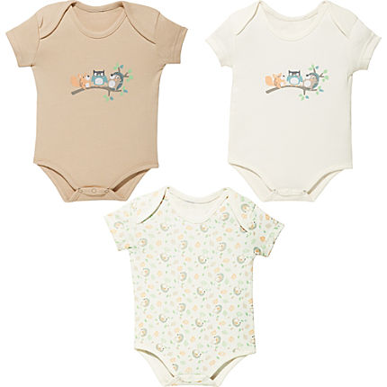Zoom: Jacky Baby Interlock-Jersey Body kurzarm im 3er-Pack