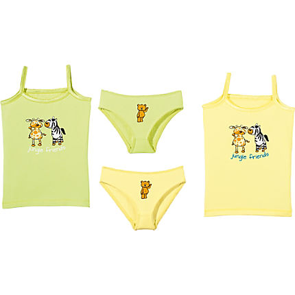Zoom: Kinderbutt Single-Jersey Unterwäsche-Set 4-tlg.