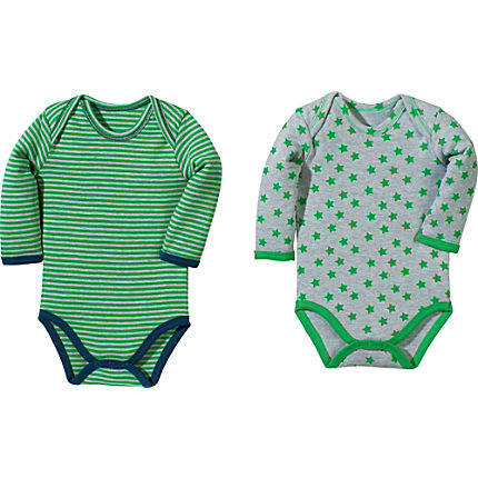 Zoom: Baby Butt Interlock-Jersey Body Langarm im 2er-Pack