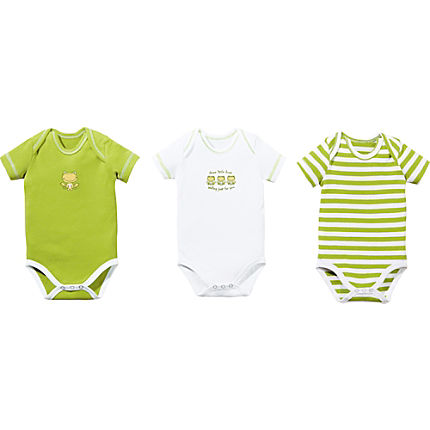 Zoom: Erwin Müller Interlock-Jersey Baby-Body im 3er-Pack