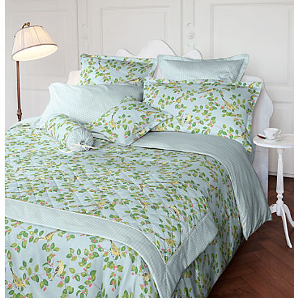 Zoom: Laura Ashley Mako-Satin Kuschelkissenbezug