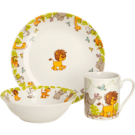 Zoom: Gepolana  3-pc children tableware set
