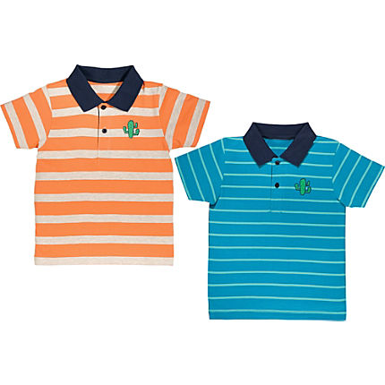 Zoom: Erwin Müller Single-Jersey Kinder-Poloshirt im 2er-Pack
