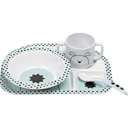 Zoom: Lässig  4-pc children tableware set