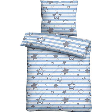 Zoom: Biberna cotton flannel duvet cover set