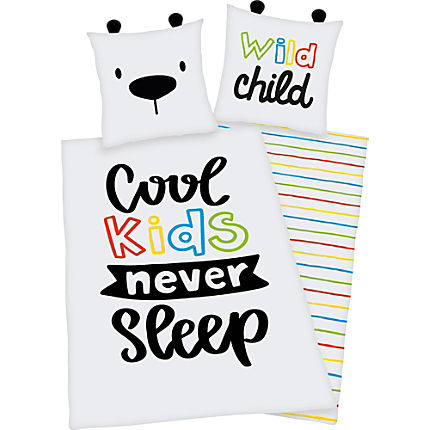 Zoom: Herding Renforcé children's reversible duvet cover set