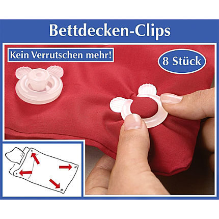 Zoom: Betten-Clips 8er-Set