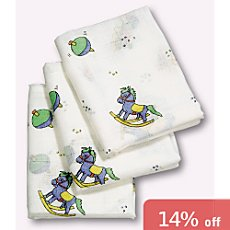 Pack of 3 muslin nappies