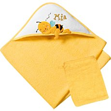 Baby Butt terry bath towel with hood