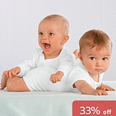 Pack of 2 Schiesser bodysuits