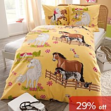 Kinderbutt 3-pc cotton flannel duvet cover set