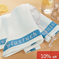 Pack of 4 Erwin Müller glass towels