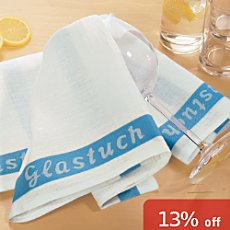 Erwin Müller pack of 2 linen glass towels