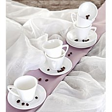 Pack of 6 espresso saucers
