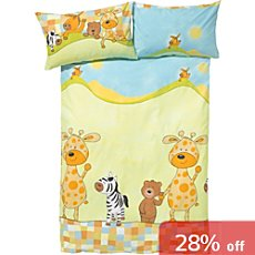 3-pc toddler duvet cover set, animal