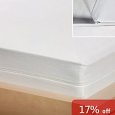 Setex mattress topper with wetness barrier