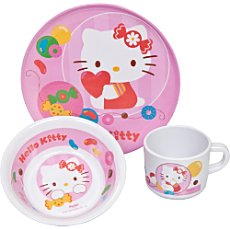 3-pc breakfast set, Hello Kitty