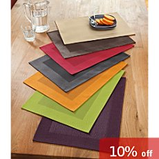 Stuco wipe-clean 4-pk place mats
