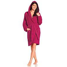 Vossen velour bathrobe for women