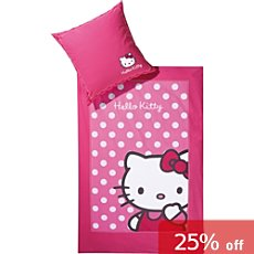 Hello Kitty cotton flannel duvet cover set