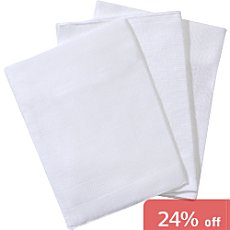 Pack of 3 Bierbaum muslin washcloths