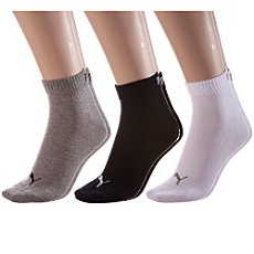 Pack of 3 Puma quarter socks