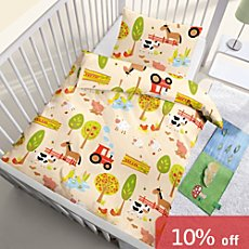 Kinderbutt Renforcé bed linen, farmyard