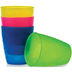 Pack of 4 Nuby cups.