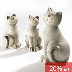 Pack of 2 ceramic cats